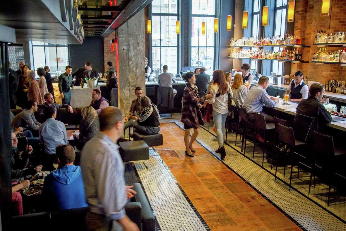 The bar at Mourad in San Francisco.