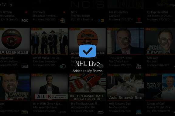 Various screenshots of Sony's Playstation Vue.