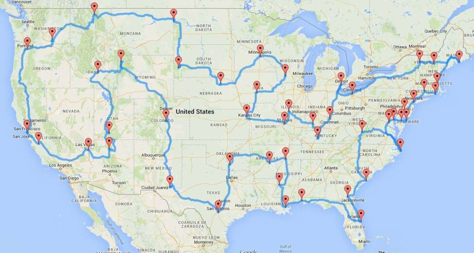 This is the most epic road trip ever for for folks who are game to hit the roads for the 13,699-mile, 224-hour trip. That's all drive time.