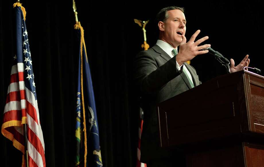 Former presidential candidate Rick Santorum speaks at the New York Family Research Foundation's lobby day in the Convention Center at the Empire State Plaza Tuesday March 17, 2015 in Albany, NY.  (John Carl D'Annibale / Times Union) Photo: John Carl D'Annibale / 00031052A