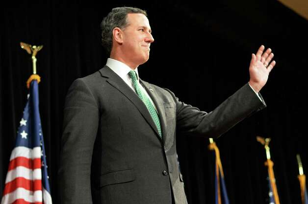 Former presidential candidate Rick Santorum at the New York Family Research Foundation's lobby day in the Convention Center at the Empire State Plaza Tuesday March 17, 2015 in Albany, NY.  (John Carl D'Annibale / Times Union) Photo: John Carl D'Annibale / 00031052A