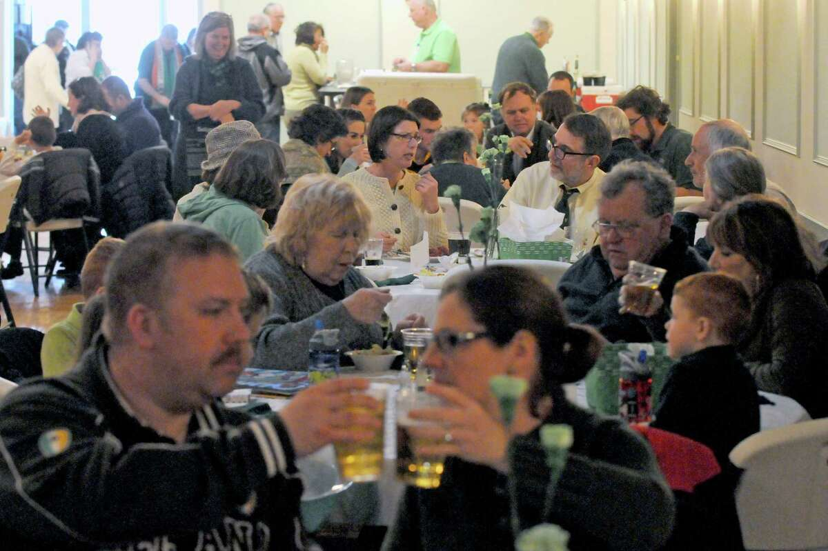 A packed house during the St. Patrick's Day corned beef and cabbage dinner at the Capital District Irish American Association on Tuesday March 17, 2015 in Albany, N.Y. (Michael P. Farrell/Times Union)