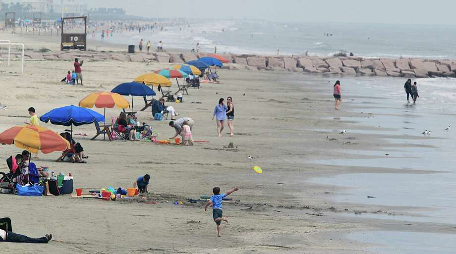 The Crowd Was Light On Monday A Galveston Beach Near 10th Street And Seawall Boulevard
