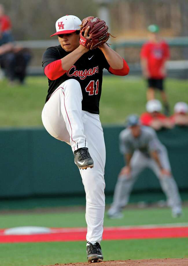 UH pitcher Seth Romero worked deep into the game against Rice on Tuesday  March 17, 2015 at Cougar Field. Photo: Craig Hartley, For The Chronicle / Copyright: Craig H. Hartley