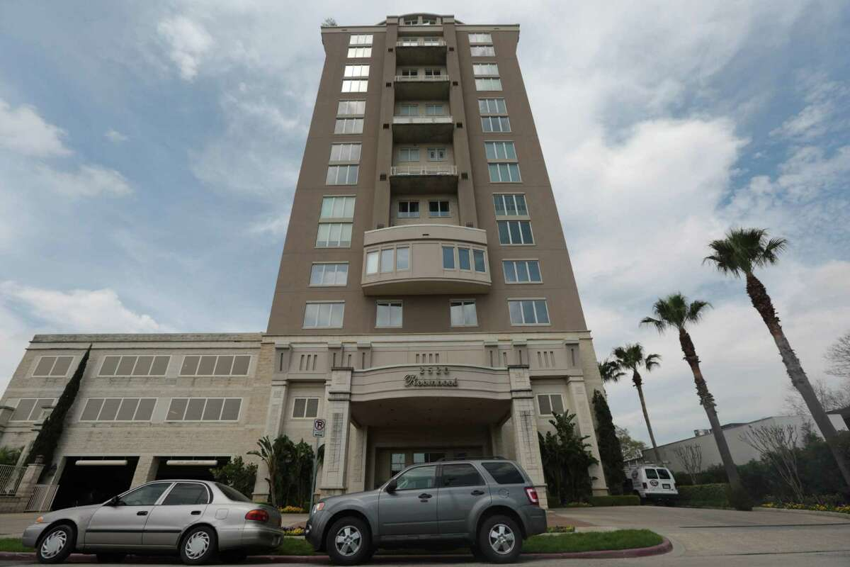 This undated photo shows a high-rise in which Robert Durst's owned three condos in Houston's Rice Village neighborhood. It was a filmmaker, not police, who uncovered a crucial piece of evidence in the murder case against Manhattan real estate millionaire Robert Durst. (AP Photo/Houston Chronicle, Billy Smith II)