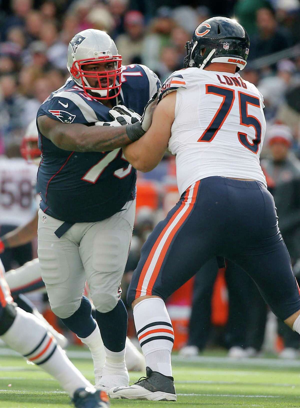 Vince Wilfork, left, gave the Patriots consistent production from his nose tackle position.