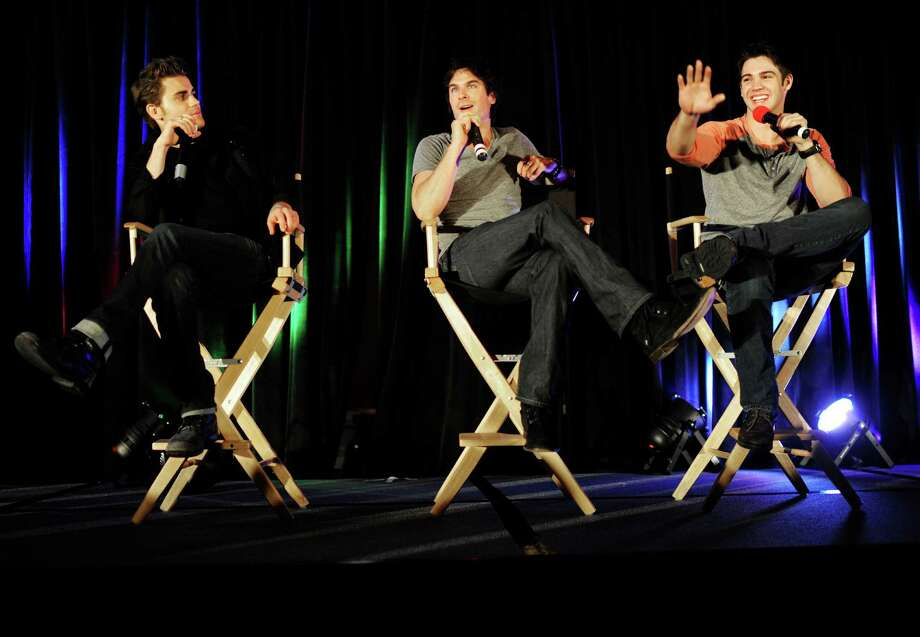 "Fans of ""The Vampire Diaries"" should plan the weekend around the official convention in Houston. Paul Wesley, from left, Ian Somerhalder and Steven R. McQueen are scheduled to attend. Photo: Yue Wu, Staff / ONLINE_YES"
