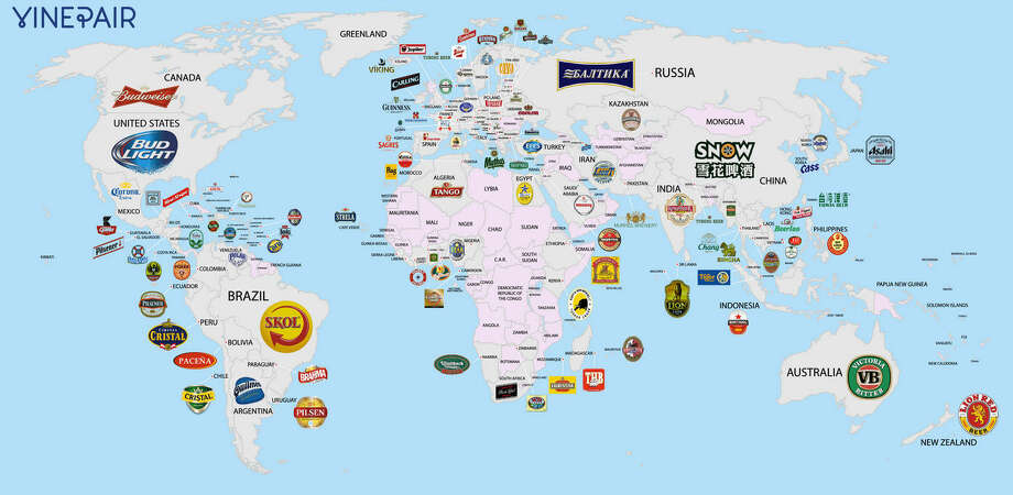 The most popular beers in each countryWine and spirits blog VinePair recently set out to document the most popular beers across the globe, covering some 100 countries. Using research reports and corporate filings, they discovered what beer drinkers from Denmark to New Zealand love the best. It should come as no surprise that in Ireland the thick and dark Guinness is the preferred beer of the masses. Photo: Josh Malin / VinePair