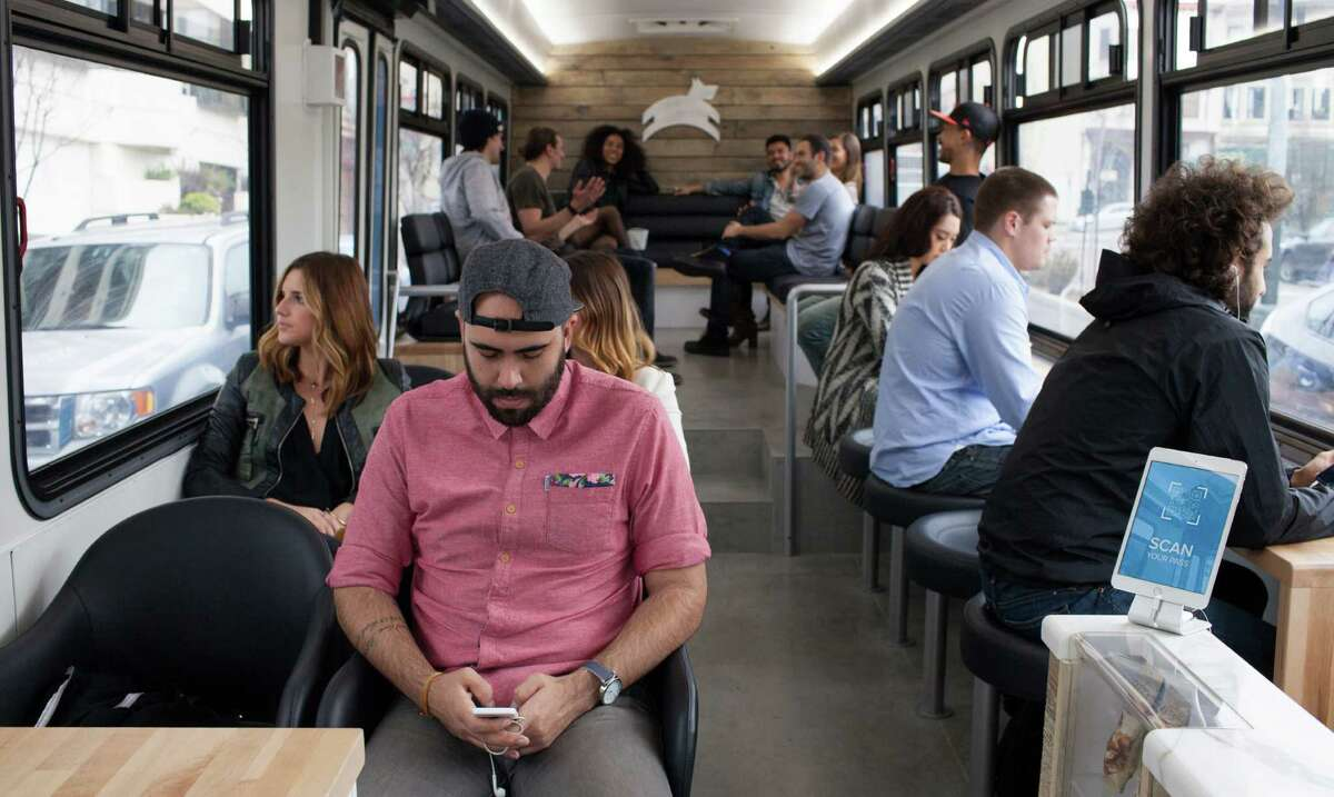 The interior of San Francisco's new Leap transit bus.