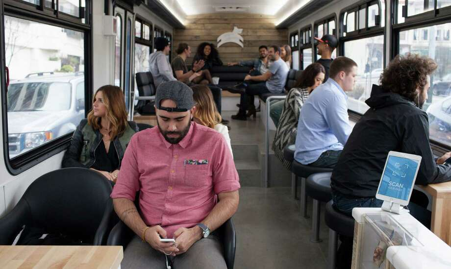 The interior of San Francisco's new Leap transit bus. Photo: Leap/Courtesy