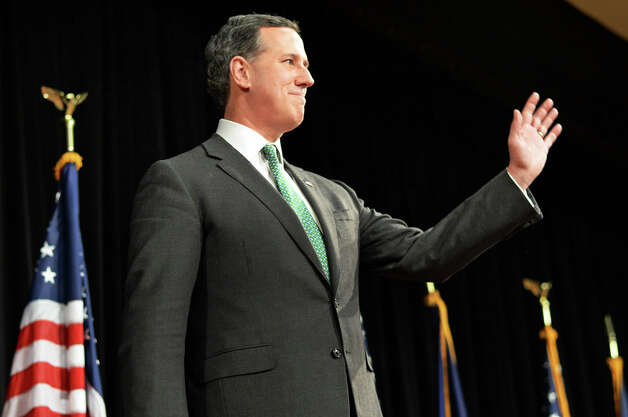 Former presidential candidate Rick Santorum at the New York Family Research Foundation's lobby day in the Convention Center at the Empire State Plaza Tuesday March 17, 2015 in Albany, NY.  (John Carl D'Annibale / Times Union) Photo: John Carl D'Annibale, Albany Times Union / 00031052A