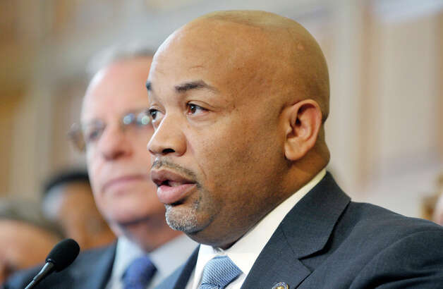 Assembly Speaker Carl Heastie, addresses members of the media during a press conference to discuss human trafficking legislation on Monday, March 16, 2015, at the Capitol in Albany, N.Y.  (Paul Buckowski / Times Union) Photo: Albany Times Union