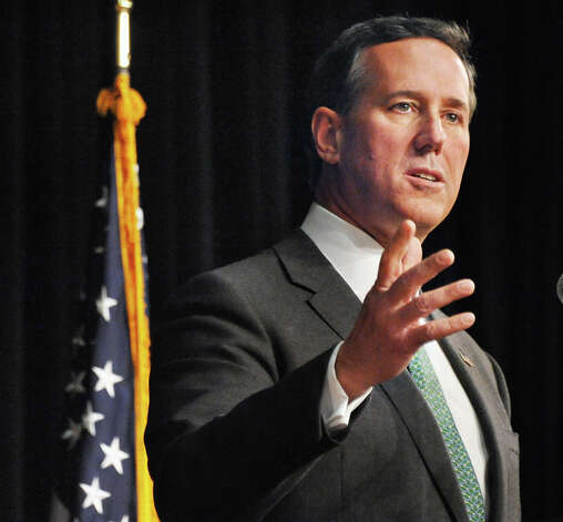 Former presidential candidate Rick Santorum speaks at the New York Family Research Foundation's lobby day in the Convention Center at the Empire State Plaza Tuesday March 17, 2015 in Albany, NY.  (John Carl D'Annibale / Times Union) Photo: John Carl D'Annibale, Albany Times Union / 00031052A