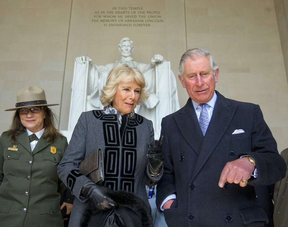 Britain's Prince Charles and Camilla, the Duchess of Cornwall tour the Lincoln Memorial on the National Mall during their visit to Washington, Wednesday, March 18, 2015. (AP Photo/Pablo Martinez Monsivais) Photo: Pablo Martinez Monsivais, Associated Press
