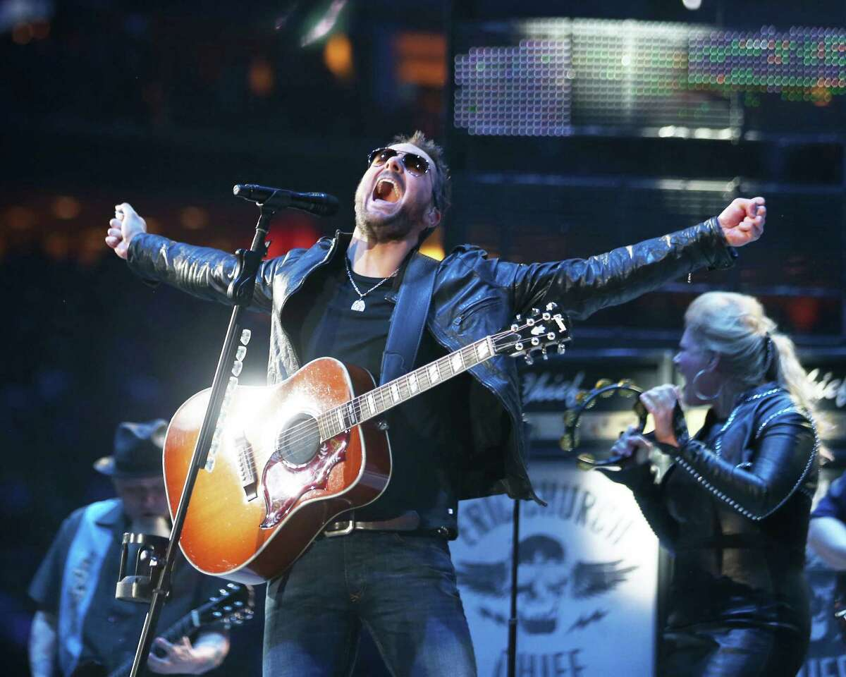 One of Dave Clements' favorite shots of RodeoHouston this year: Country singer Eric Church.