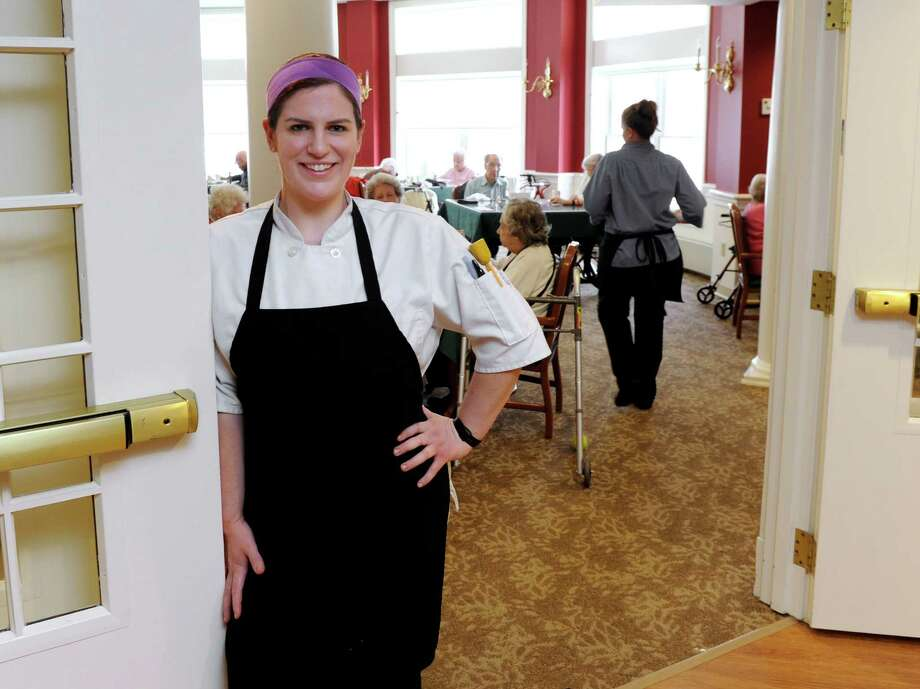 Carol Koty, 28, of Stratford, Conn., is the chef supervisor at Masonicare at Newtown-Lockwood Lodge on Toddy Hill Road in Newtown. She is photographed on the job Wednesday, March 18, 2015 Photo: Carol Kaliff / The News-Times