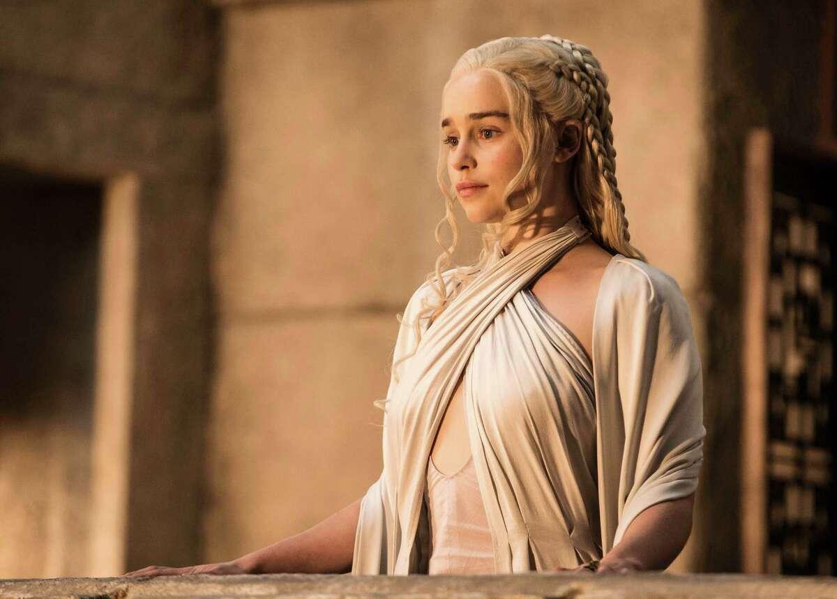 Emilia Clarke in season five of HBO's
