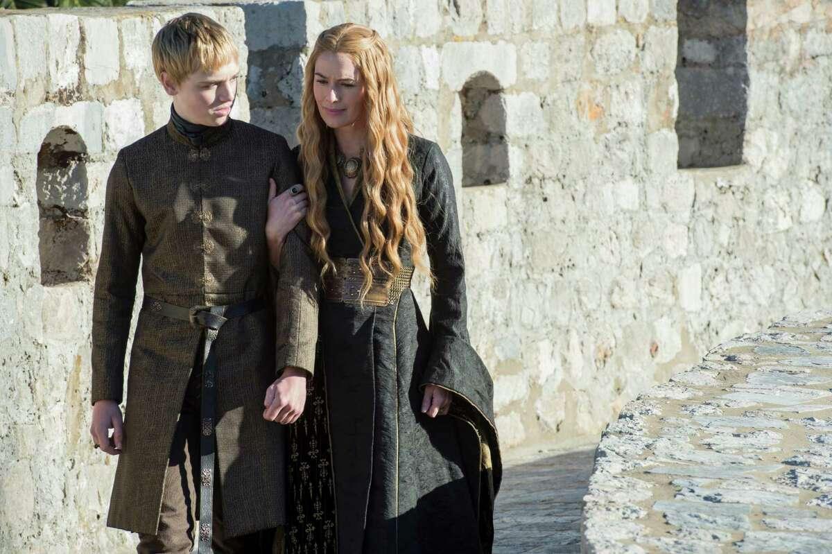 Dean-Charles Chapman and Lena Headey in season five of HBO's