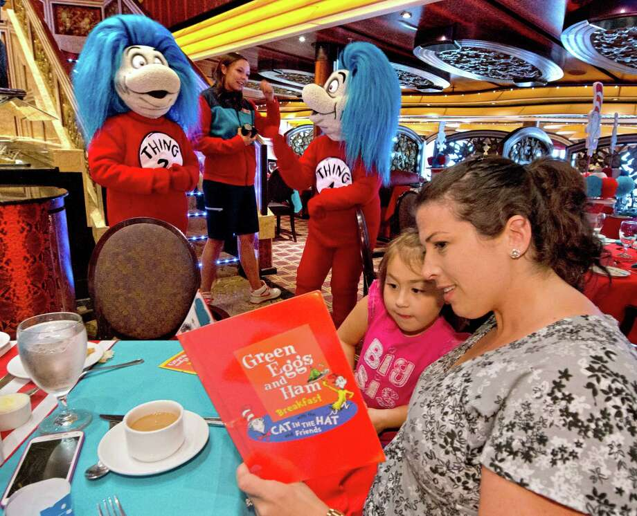 """Green Eggs and Ham"" was on the breakfast menu and among the reading choices during a recent Seuss-A-Palooza aboard the Carnival Magic cruising out of Galveston. Photo: Andy Newman /Carnival Cruise Line"