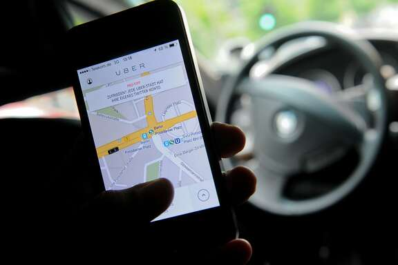 FILES- Picture taken on April 24, 2014, shows the popular car pick-up service Uber application in Berlin, Germany. German regional court in Frankfurt am Main issued a nationwide ban on online taxi service Uber on March 18, 2015. AFP PHOTO / DPA / BRITTA PEDERSEN +++ GERMANY OUTBRITTA PEDERSEN/AFP/Getty Images