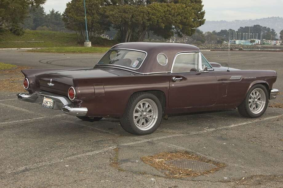 Photos of Lawrence Kuznetz and his 1957 Ford Thunderbird photographed at His Lordship's Restaurant on the Berkeley Marina in Berkeley, California on January 8, 2015. Photo: Stephen Finerty, Photograph By Stephen Finerty,