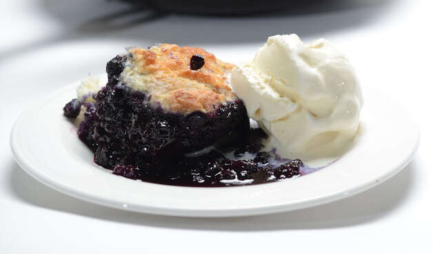 Blueberry pie made by Deanna Fox Friday morning, March 13, 2015, at the Times Union in Colonie, N.Y. (Will Waldron) Photo: WW / 00030984A