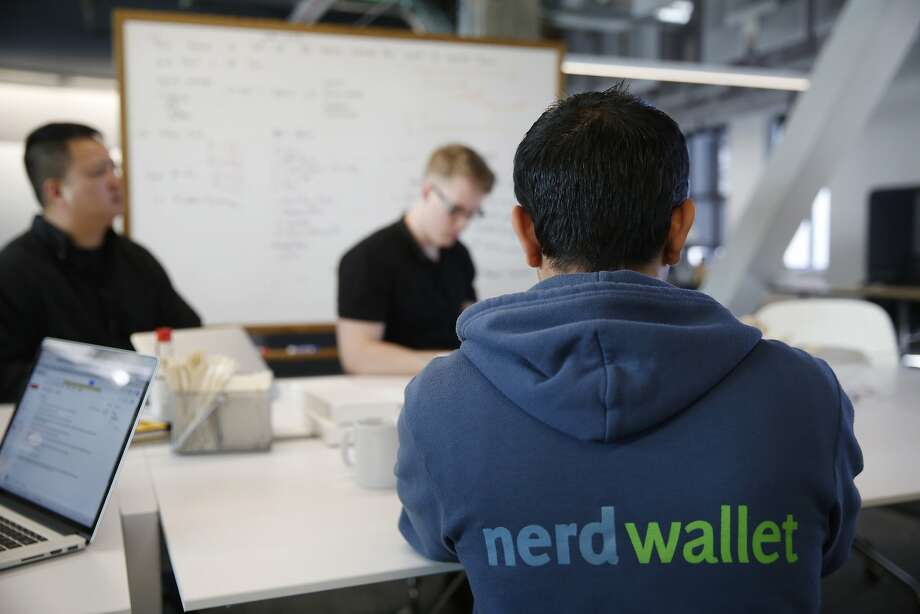 A software engineer at NerdWallet, wears his company sweatshirt during a meeting at the company on Tuesday Feb. 24, 2015 in San Francisco, Calif. Photo: Mike Kepka, The Chronicle
