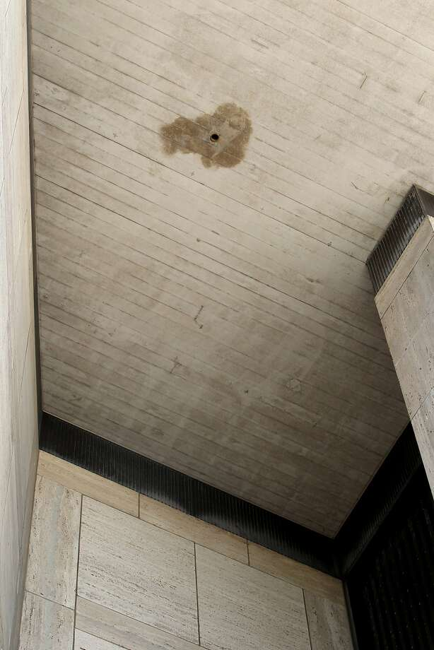 A sprinkler is seen at St. Mary's Cathedral, Wednesday, March 18, 2015, in San Francisco, Calif. The Archdiocese of S.F. said the sprinklers are now turned off after allegations of the water system soaking the homeless sleeping in the stairwells. Photo: Santiago Mejia, The Chronicle