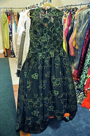"""A dress for the mother of Thomas Curley, who won an Oscar for sound mixing for the film OWhiplash"""" by local designer Daniel Mozzes at his Pearl Street studio Wednesday March 18, 2015 in Albany, NY.  (John Carl D'Annibale / Times Union) Photo: John Carl D'Annibale / 00030930A"""