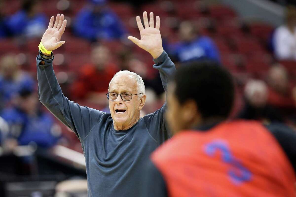 Even at 74, SMU coach Larry Brown takes an active interest in directing his team during practice, which he may enjoy even more than the games themselves.
