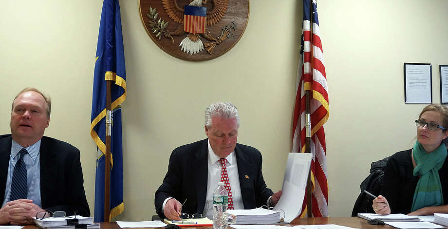 The Board of Selectmen heard a report Wednesday from the Election Process Review Committee. Photo: Genevieve Reilly / Fairfield Citizen