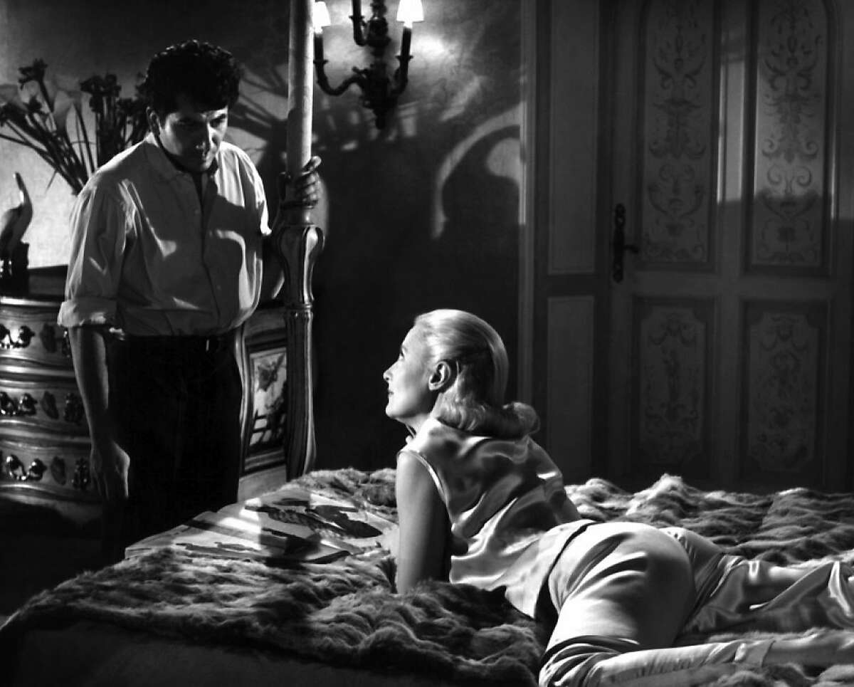 A chauffeur (Daniel G lin) turns from making suicide look like murder to lust when he becomes overly enamored with the icy but well-rounded widow (Michele Morgan) in THER'S ALWAYS A PRICE (RETOUR DE MANIVELLE) (1957, France, dir. Denis de la Patelliere)