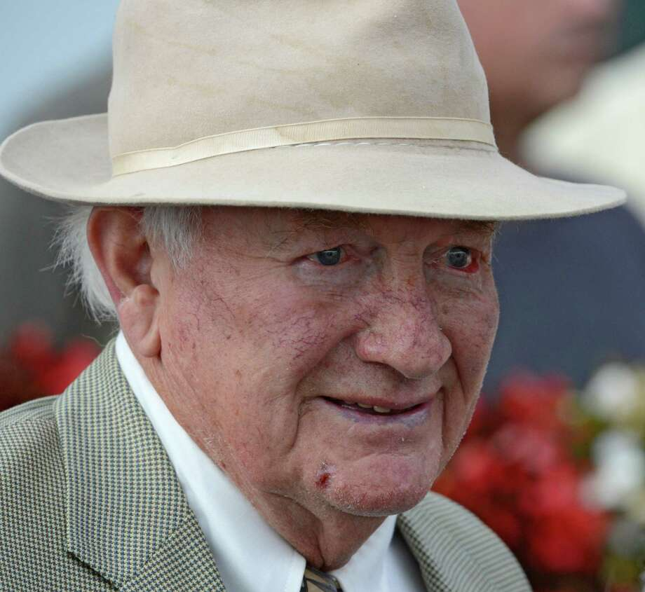 Go Unbridled's trainer H. Allen Jerkens shows a smile after his charge won the ninth running of The Saratoga Dew at the Saratoga Race Course in Saratoga Springs, N.Y. Aug. 27, 2012.    (Skip Dickstein/Times Union archvie) Photo: Skip Dickstein