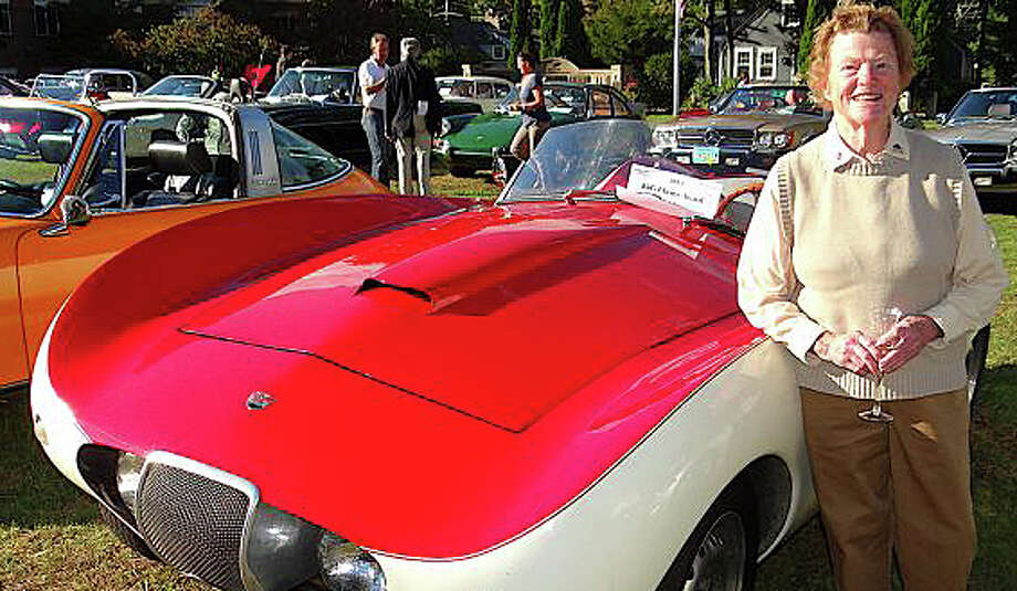 "Former state Sen. John McKinney of Fairfield talked about last year's death of his mother, Lucie C. McKinney of Westport -- shown here at a Concours d'Elegance car show in Westport -- as he testified against proposed ""right-to-die"" legislation in Hartford this week. Photo: File Photo / Fairfield Citizen"