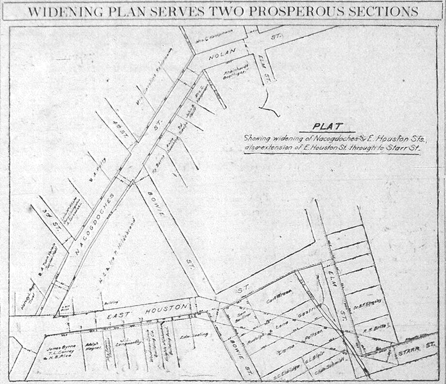 1918 map shows downtown street widening - San Antonio Express-News