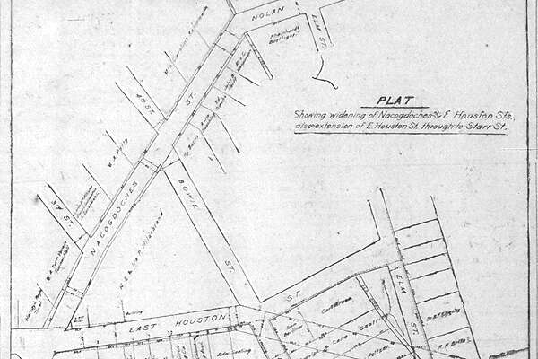 Nacogdoches Street downtown was right behind the Alamo. We know that mystery stretch today as Bonham Street.