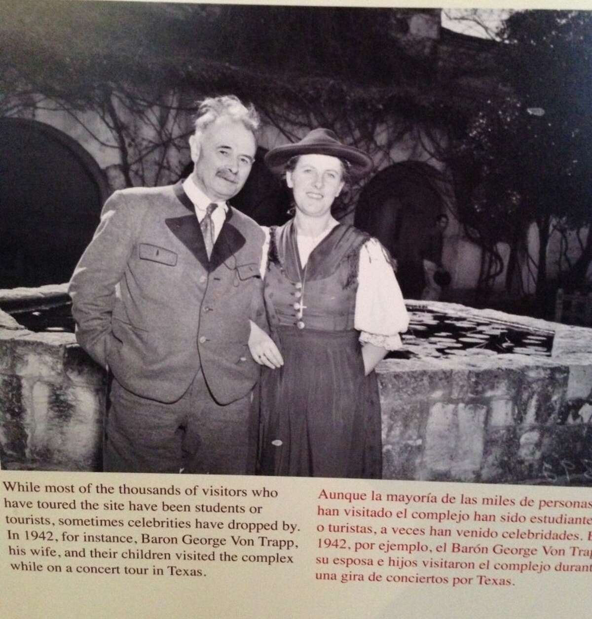 Picture of the von Trapps in San Antonio in 1942 on a wall of the Spanish Governor's Palace.