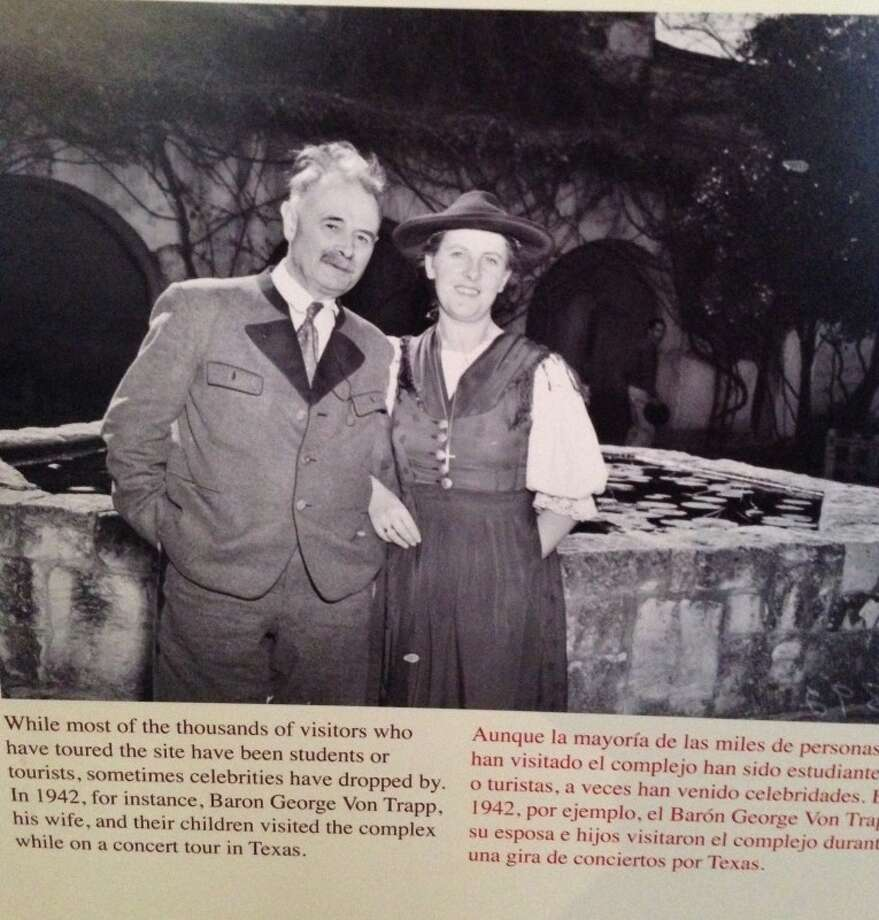 Picture of the von Trapps in San Antonio in 1942 on a wall of the Spanish Governor's Palace. Photo: Kim Stuart Swidler/Times Union