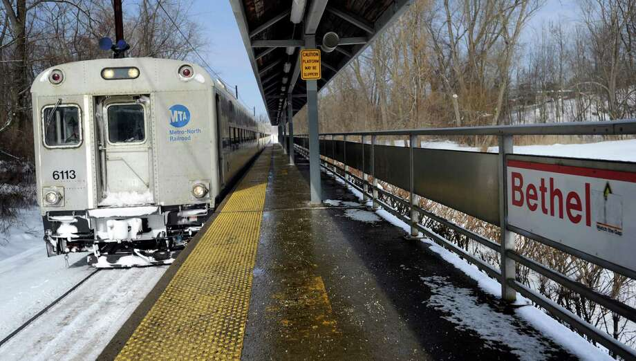 Local officials are concerned that proposals to create a statewide transit development authority with eminent domain powers could impact local redevelopment plans surrounding Bethel's train station. Photo: Carol Kaliff / The News-Times