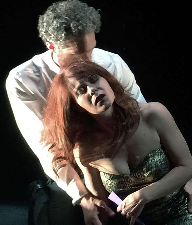 "Baritone Daniel Cilli (left) and soprano Nikki Einfeld in ""Death With Interruptions."" Photo: Lena Zentall / Lena Zentall / ONLINE_YES"