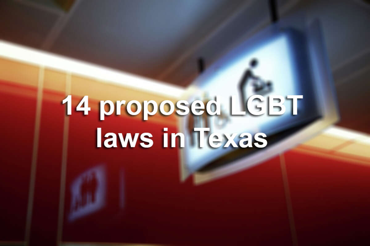 One proposed law would strike down Texas' same-sex marriage ban. Another would prohibit transgender Texans from using bathrooms for the gender that they identify with. Here are 14 proposed laws by Texas lawmakers that would affect LGBT citizens.