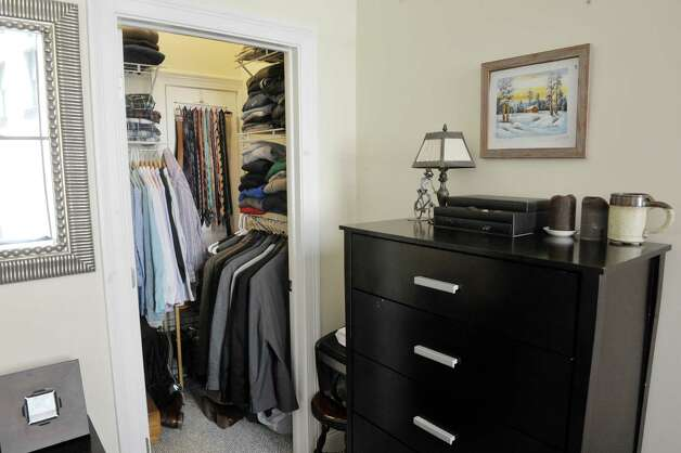 A view of walk-in closet in the bedroom inside a one bedroom apartment in the Argus Building at 412 Broadway on Thursday, March 12, 2015, in Albany, N.Y.   (Paul Buckowski / Times Union) Photo: PAUL BUCKOWSKI / 00030983A
