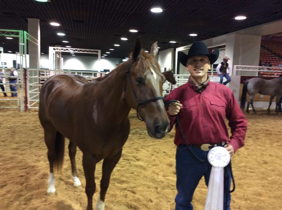 Paul Barulich at the American Quarter Horse Association's Versatility Ranch Horse competition at the Houston Livestock Show & Rodeo. Photo: Mike Glenn