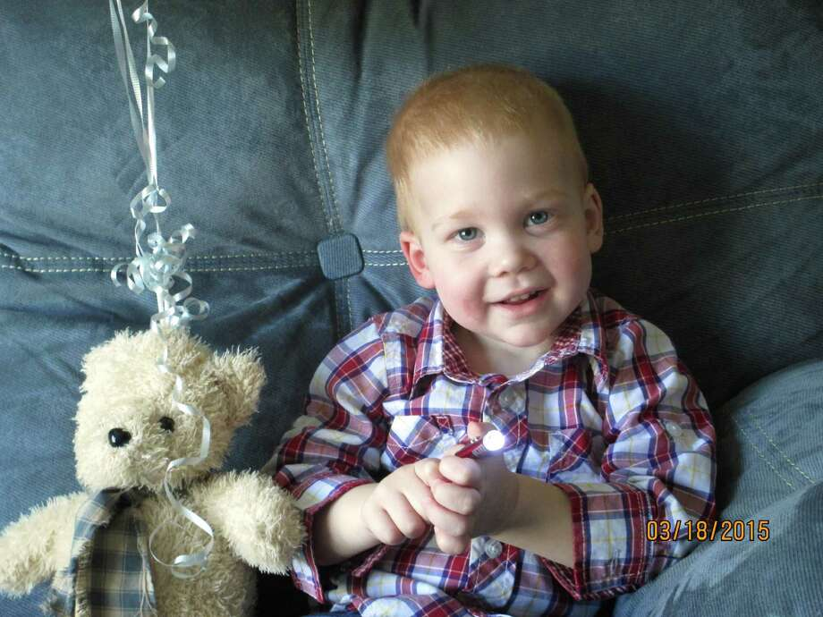 In this March 18, 2015 photo provided by Rose Martin, 22-month-old Gardell Martin sits at his home in Mifflinburg, Pa. Gardell's lifeless body pulled from an icy creek was revived after an hour and 41 minutes of CPR and has suffered virtually no lingering effects. Martin came home from the hospital on Sunday, and his doctors said Thursday he has made a full recovery. (AP Photo/Rose Martin) Photo: HONS / Rose Martin