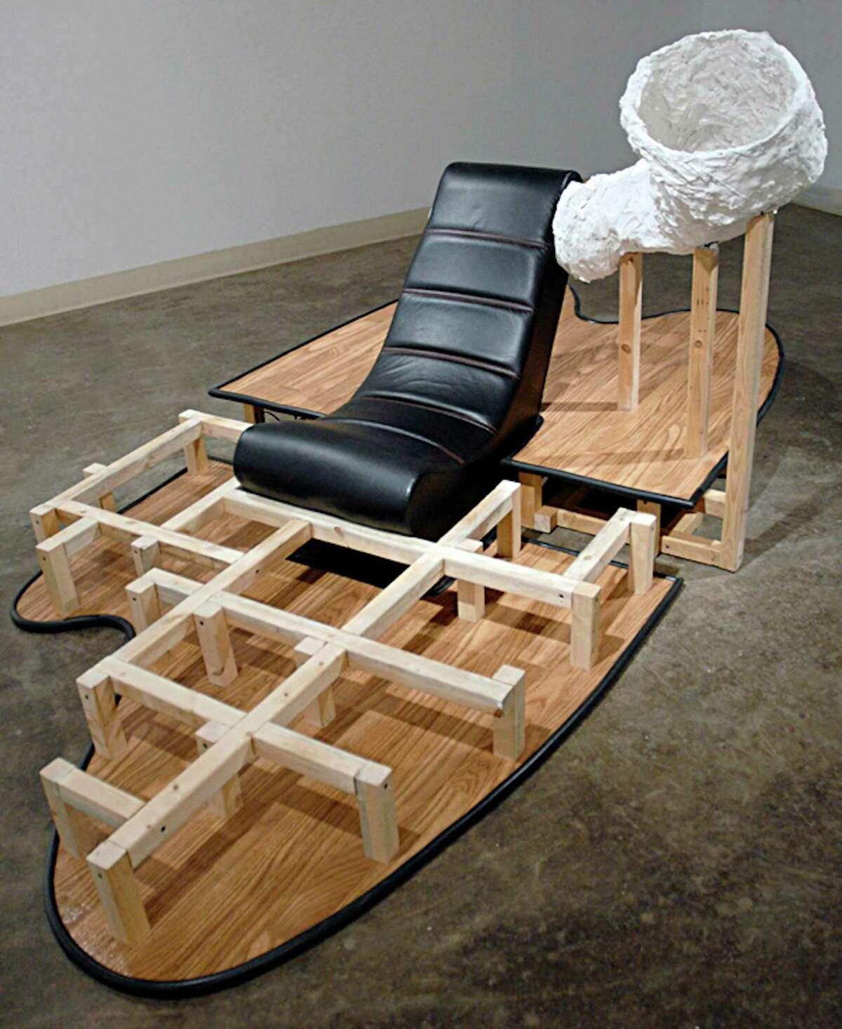 "Darrin Martin's ""Mono Solo,"" mixed media sculpture with sound."