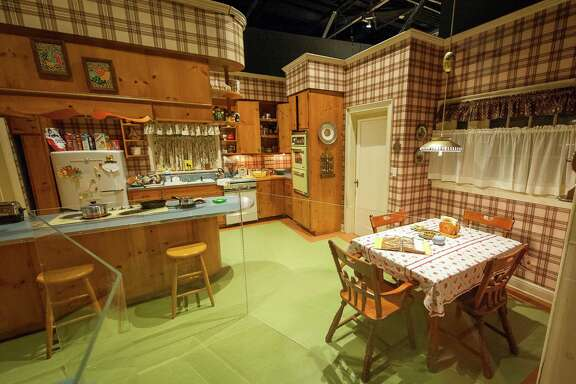 "The ""Mad Men"" set of Betty and Don Draper's kitchen in their suburban home is displayed in the ""Matthew Weiner's Mad Men"" exhibit at the Museum of the Moving Image in New York."