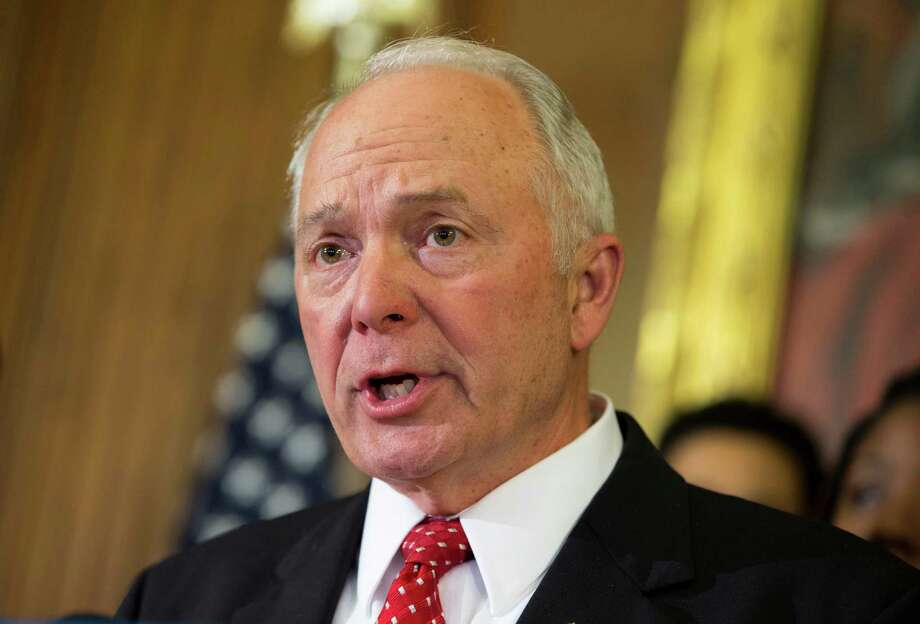 "FILE - In this May 7, 2014 file photo, Rep. John Kline, R-Minn. speaks during a news conference on Capitol Hill in Washington. Defying a veto threat by President Barack Obama, the Republican-controlled Congress has voted to kill a pending National Labor Relations Board rule intended to streamline union elections. Kline, chairman of the House Committee on Education and the Workforce, called the rule a ""radical rewrite of labor policies that have served our nation's best interests for decades.'' (AP Photo/ Evan Vucci, File) Photo: Evan Vucci, STF / AP"