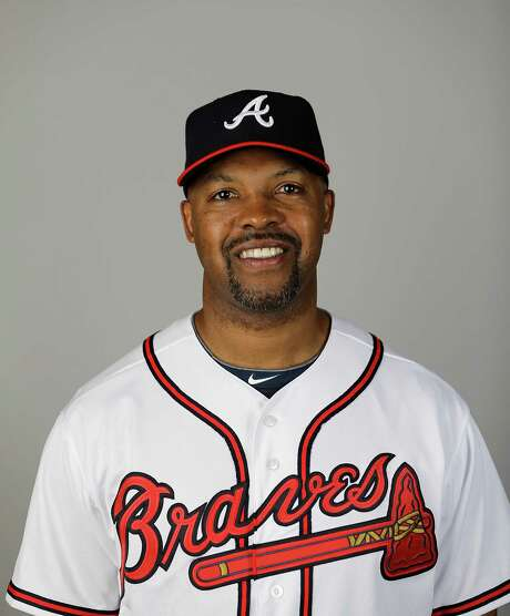 This is a 2015 photo of Bo Porter of the Atlanta Braves baseball team. This image reflects the 2015 active roster as of Monday, March 2, 2015 when this image was taken. (AP Photo/David Goldman) Photo: David Goldman, STF / MLBPV AP