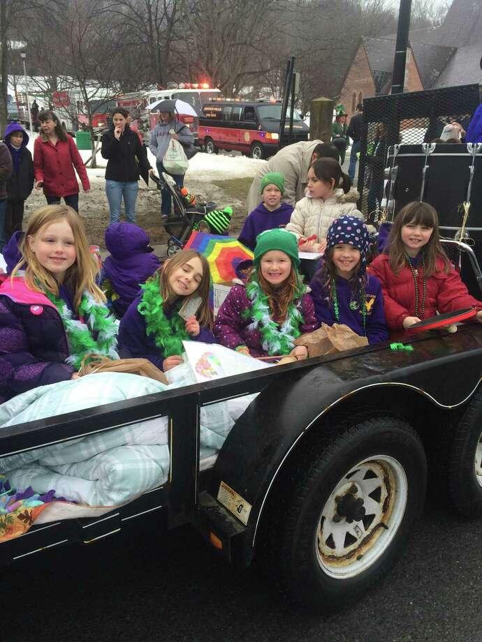 Students in grades pre-k through four represented Saint Mary?s Academy in the Saint Patrick?s Day parade on Saturday. Several children celebrated the holiday with a float donated and operated by the Granger family. Children threw candy to the crowd, while fourth-grade student Reagan Kessler accompanied music and art teacher Jill Chadwick on the recorder, performing ?When the Saints Go Marching In.?