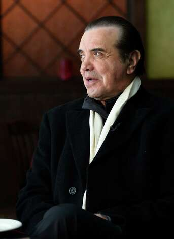 "Chazz Palminteri conducts a media event Friday afternoon, March 6, 2015, at Johnny's in Schenectady, N.Y., to advance a benefit performance at Proctors for ""A Bronx Tale"" on March 22. (Skip Dickstein/Times Union) Photo: SKIP DICKSTEIN / 10030888A"